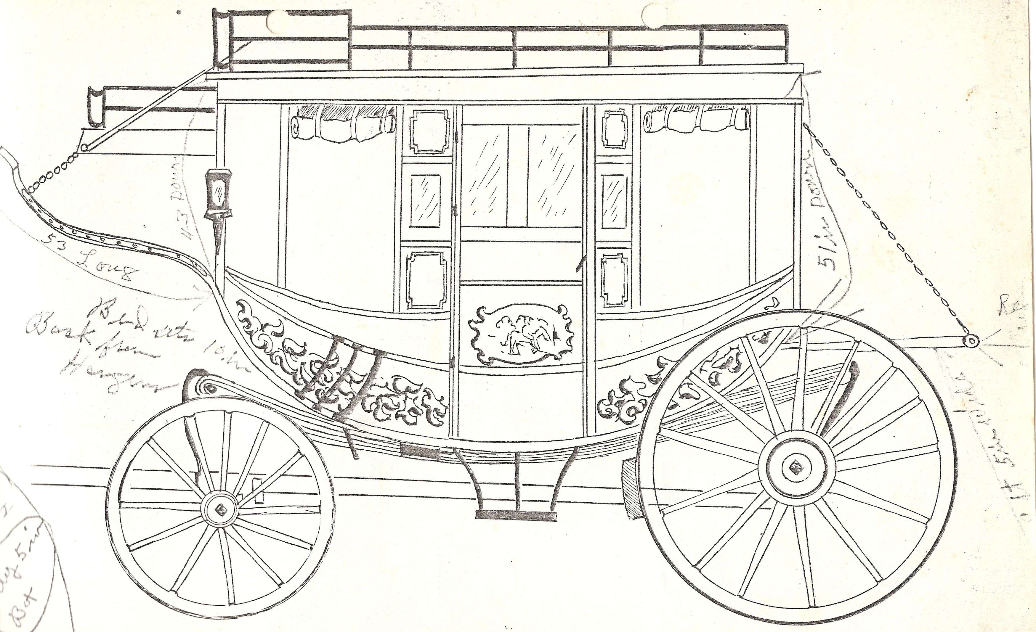 From Claude\'s stagecoach blueprints.