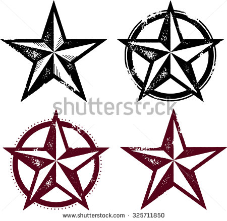 Distressed Star Clipart.