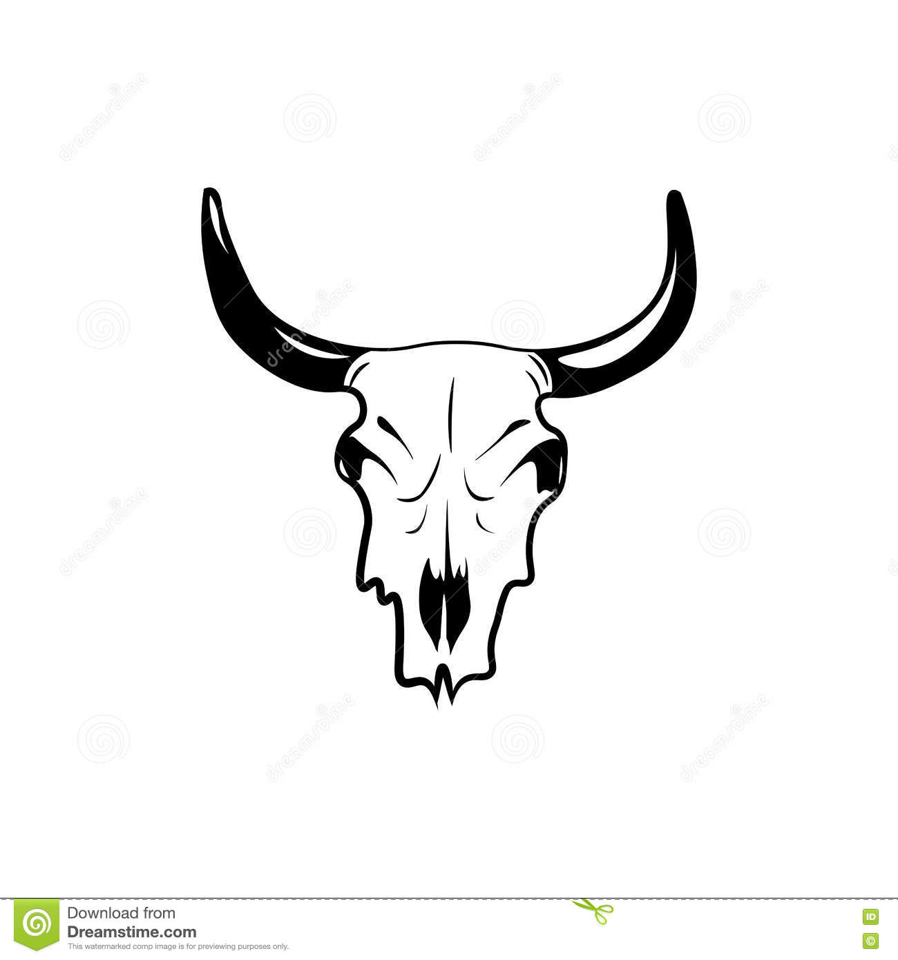 185 Cow Skull free clipart.