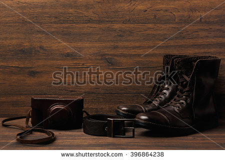 Western Accessories On Wooden Table Stock Photo 133817396.