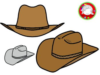 Cowboy Hat Clipart (Personal & Commercial Use).