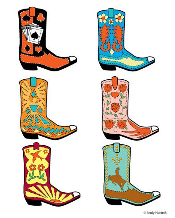 Western Boots Clipart Western Boots Clip Art Commercial and.