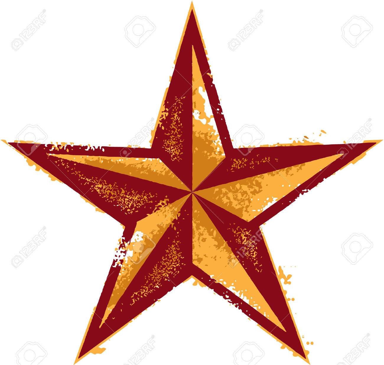 Grunge Western Style Star Royalty Free Cliparts, Vectors, And.