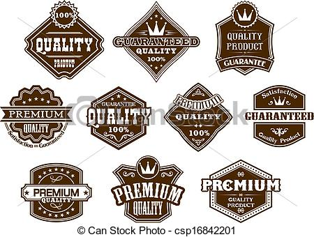 Vector Clipart of Labels and banners in western style.