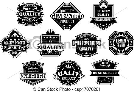 Clip Art Vector of Labels set in vintage western style for retail.