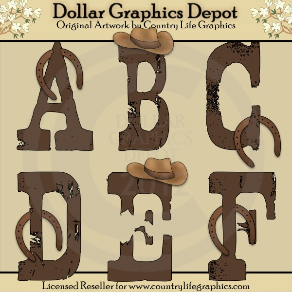 Country Style Clipart Borders