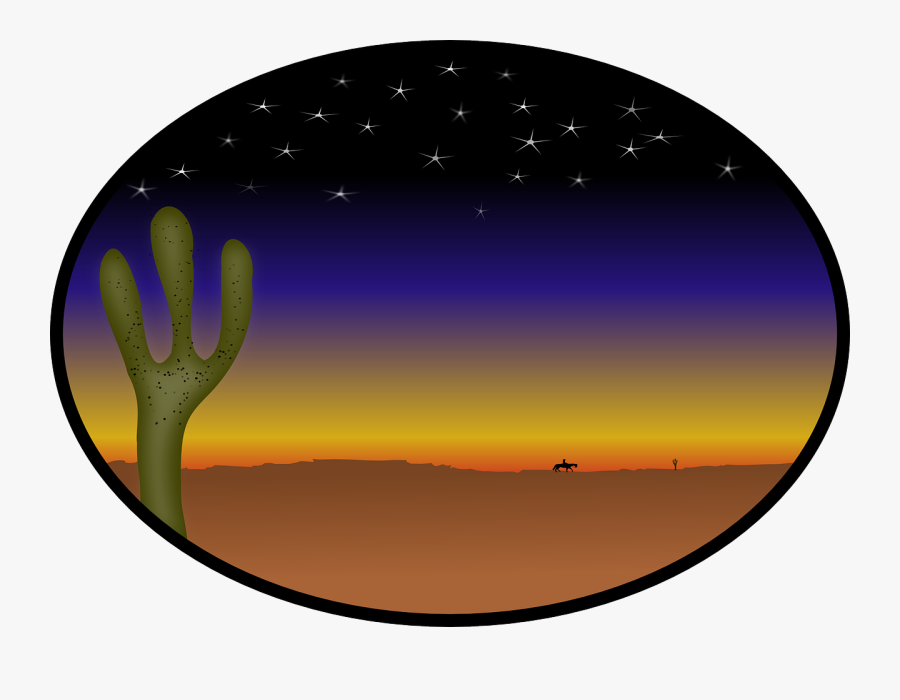 Cactus, Country, Cowboy, Desert, Stars, Sunset.