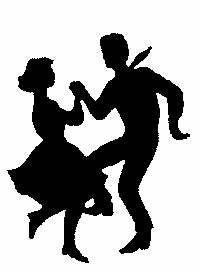 Swing Dancers Clipart.