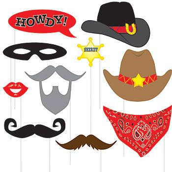 Western Photo Booth Props Pkg/10.