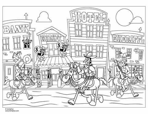 Old West Coloring Pages.
