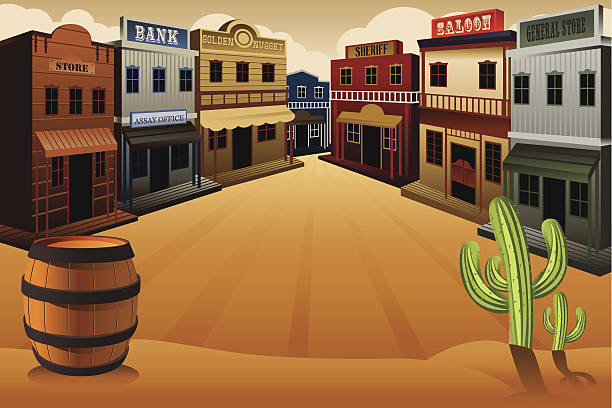 Western town clipart clipground - Dessin saloon ...