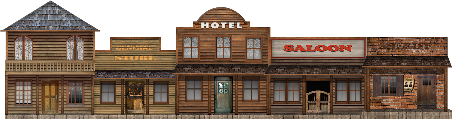 Popular Western Town Clipart.