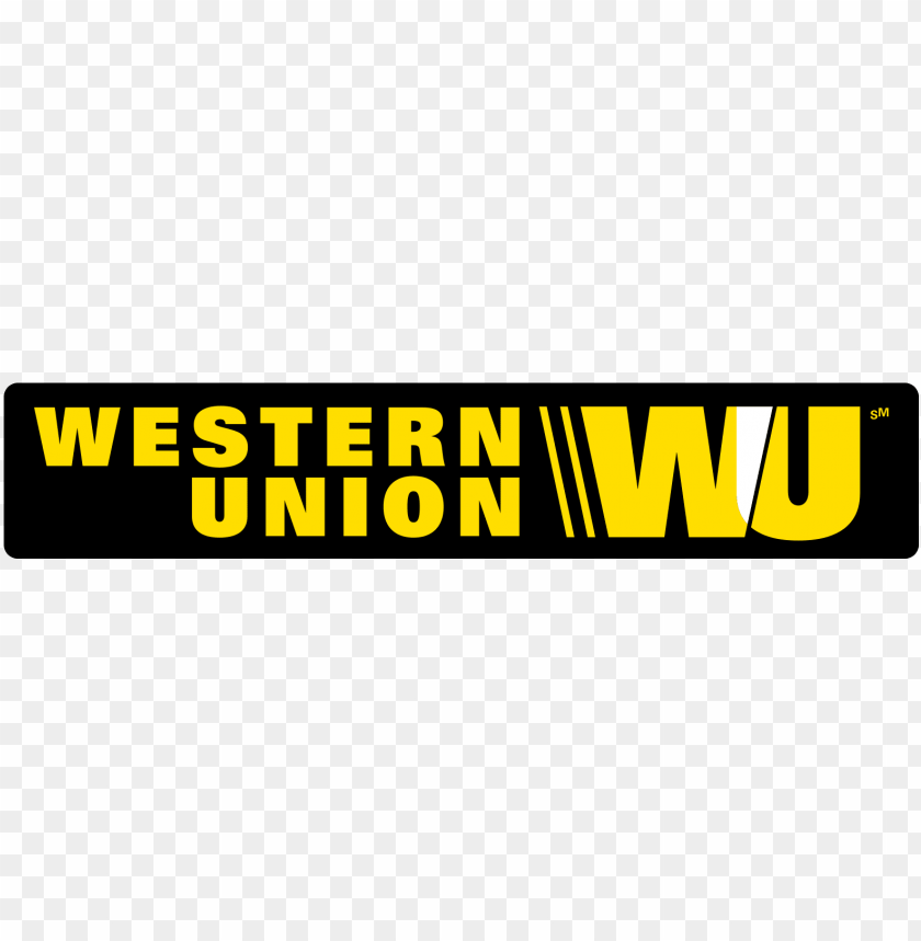western union logo high res PNG image with transparent.