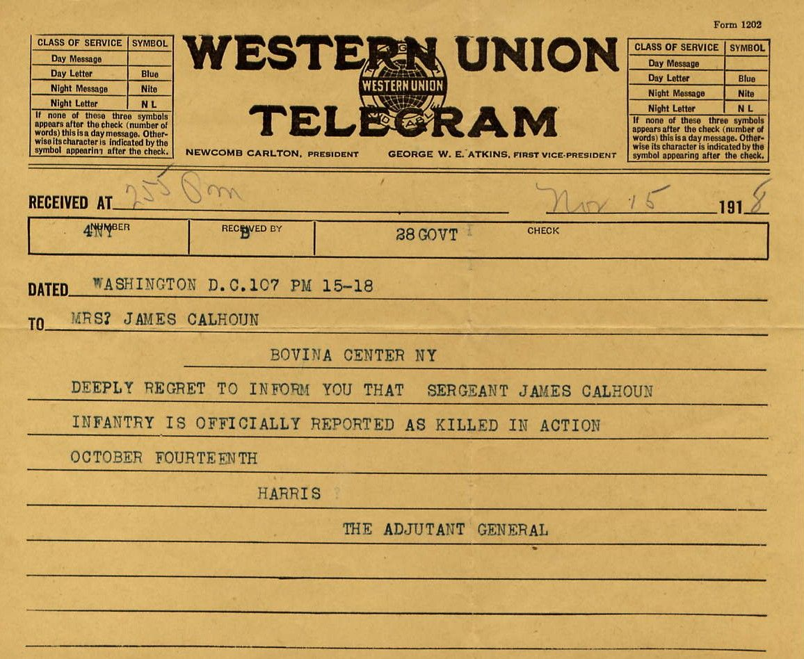 Western Union Telegram..my Nanny worked for them for years.