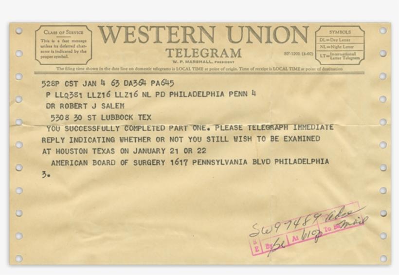 00017 1963 Jan4 Telegram From Debakey.