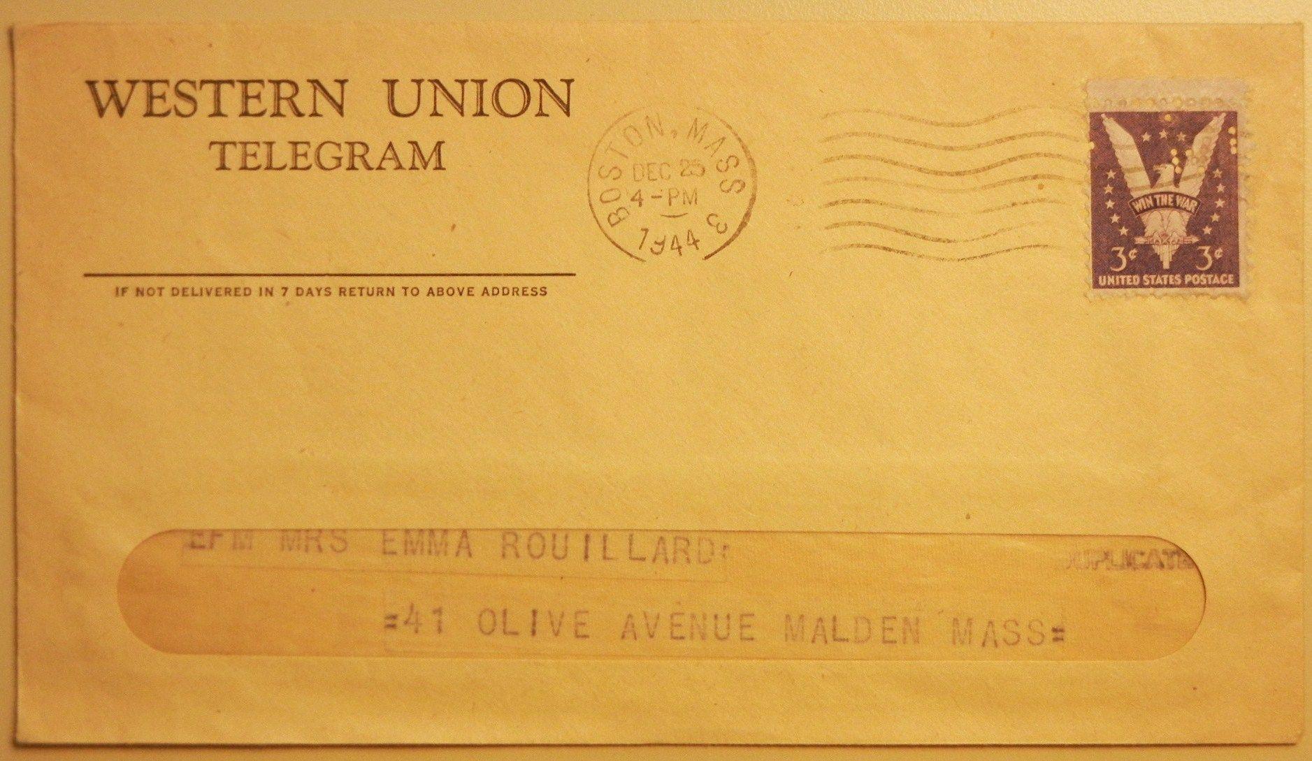 Telegram Envelope.