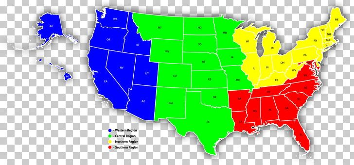 Southern United States Map Western United States Sales.