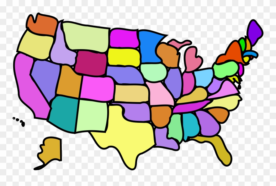 Clipart Of Usa Map Free Western State Travel United.