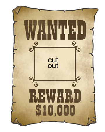 Western wanted poster clipart 1 » Clipart Station.