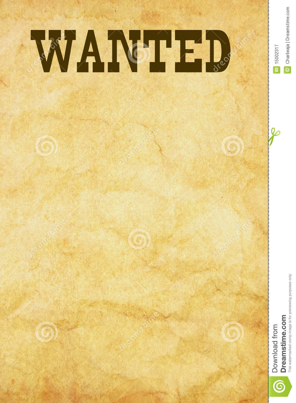 Western wanted poster clipart 5 » Clipart Station.