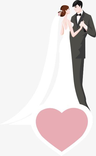 Western Style Wedding Bride And Groom, Wedding Clipart, Western.