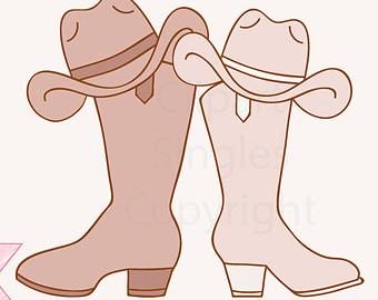 Western Wedding Clipart.