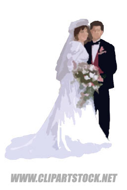 Christian Wedding Couple Clipart.