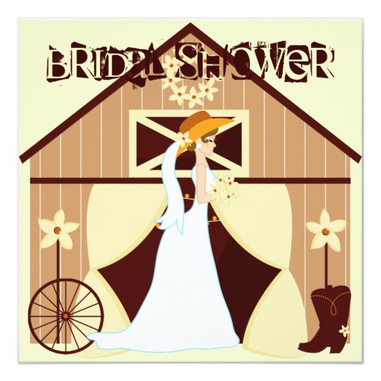 Country Western Cowgirl Bridal Shower Invitations.