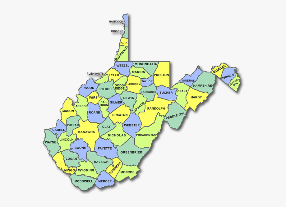 West Virginia State Counties , Transparent Cartoon, Free.