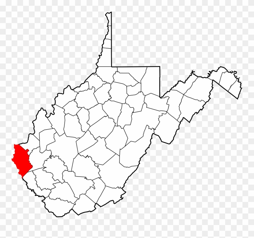 Map Of West Virginia Highlighting Wayne County.