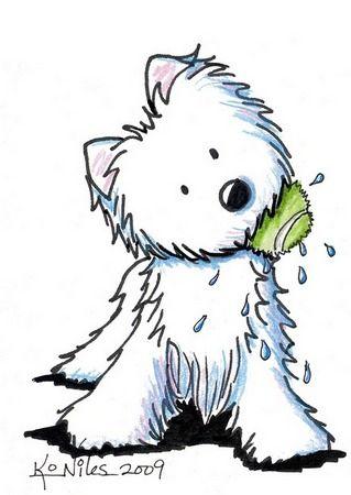 Resultado de imagen para west highland white terrier dibujo.