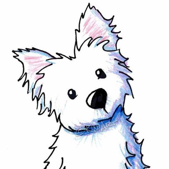 Westie Dog By Kim clipart.