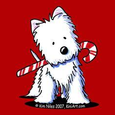 Original ACEO Art Westie Terrier Dog Breed Cartoon. $40.00, via.
