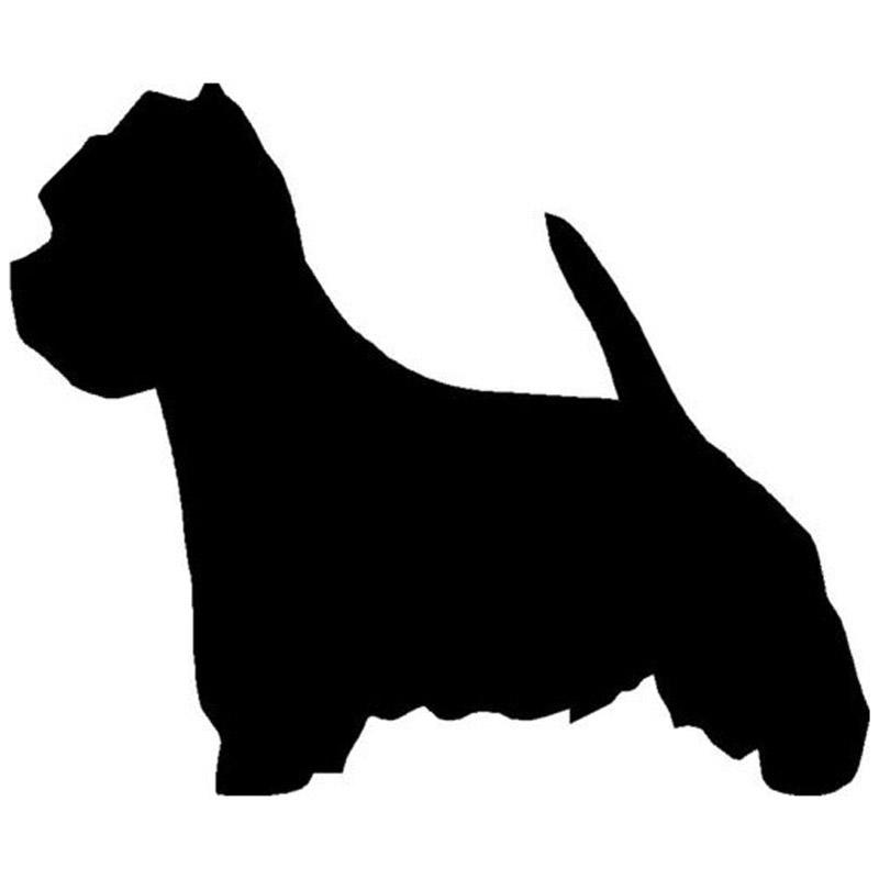 Westie Dog Silhouette.
