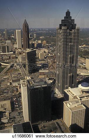 Stock Photography of aerial view, Atlanta, GA, Georgia, Aerial.