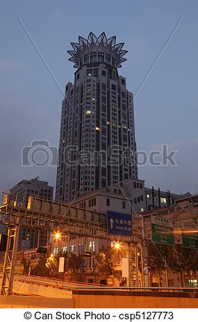 Stock Photos of Highrise building of the WestIn Hotel with crown.