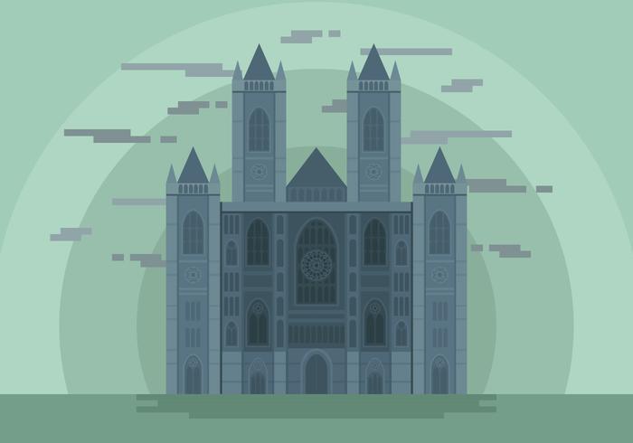 Westminster Abbey Landmark Vector Illustration.