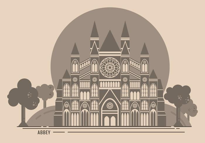 Westminster Abbey Free Vector Illustration svg, ai file.