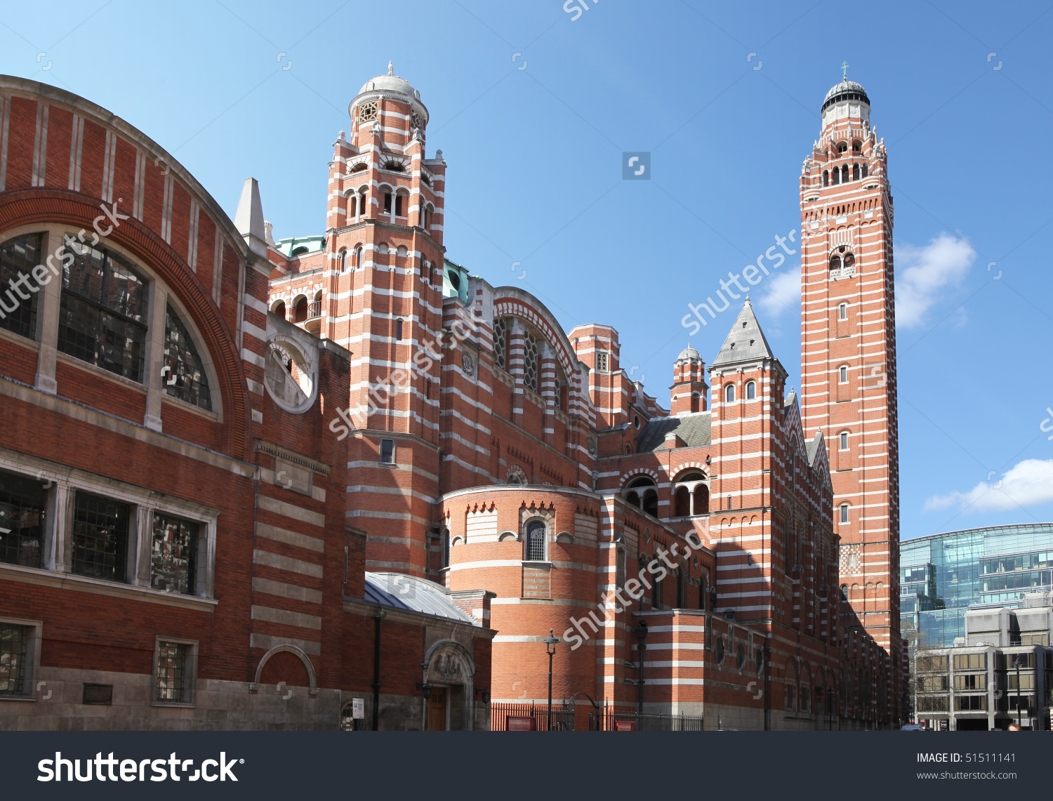 Westminster Cathedral London Roman Catholic Place Stock Photo.