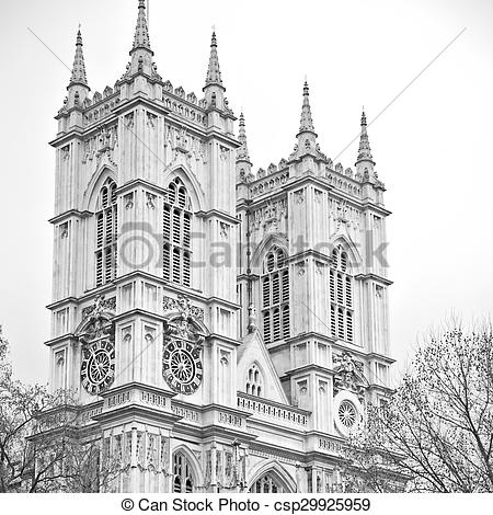 Stock Images of westminster cathedral in london england old.