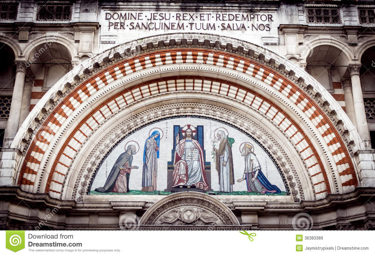 Westminster Cathedral Door Arch Royalty Free Stock Images.