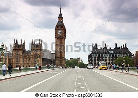 Stock Photos of Westminster Cathedral and Big Ben clock tower.