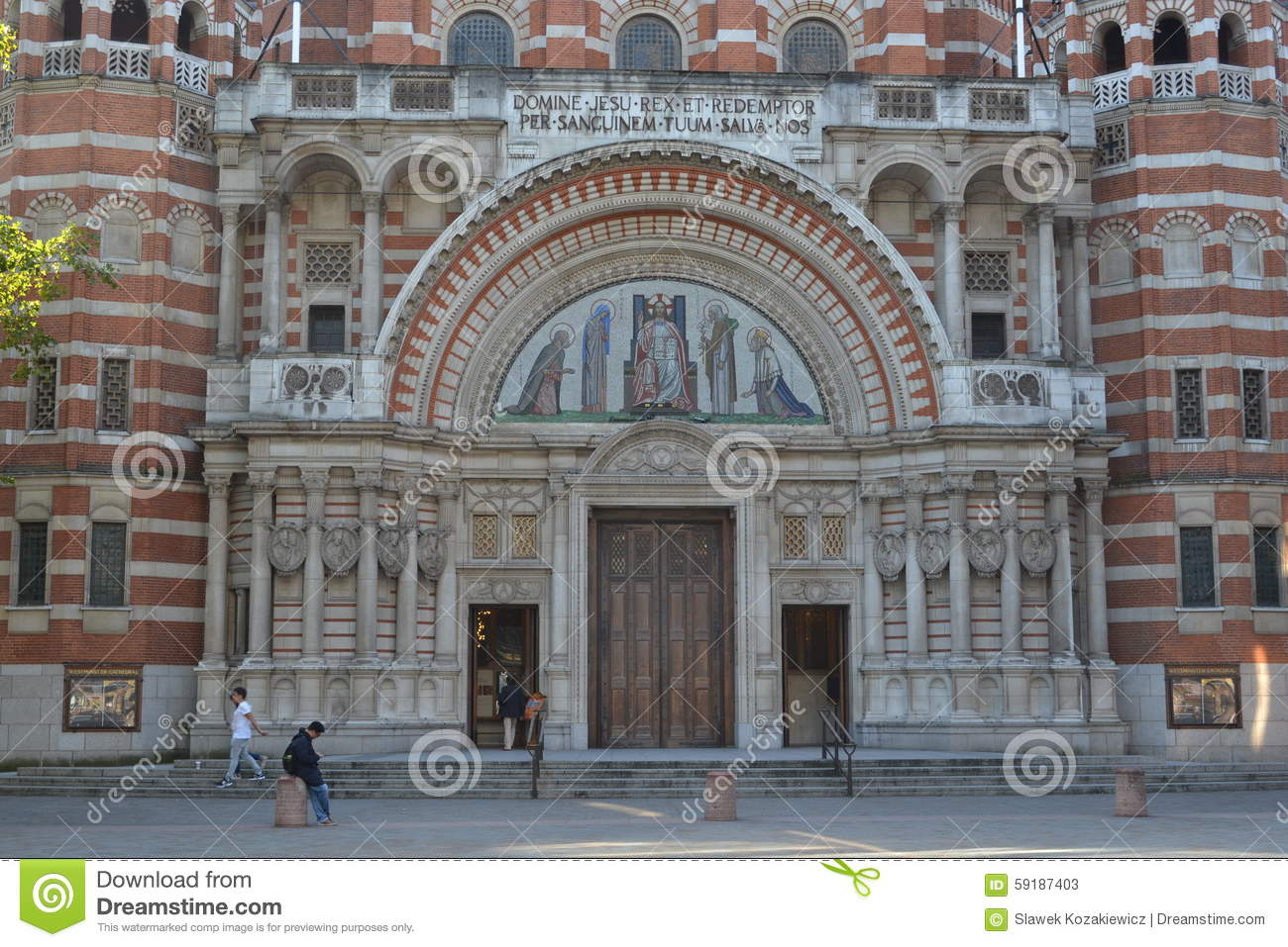 Westminster Cathedral London Editorial Stock Photo.