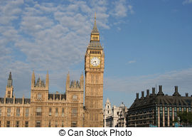 Stock Photography of Houses of Parliament.