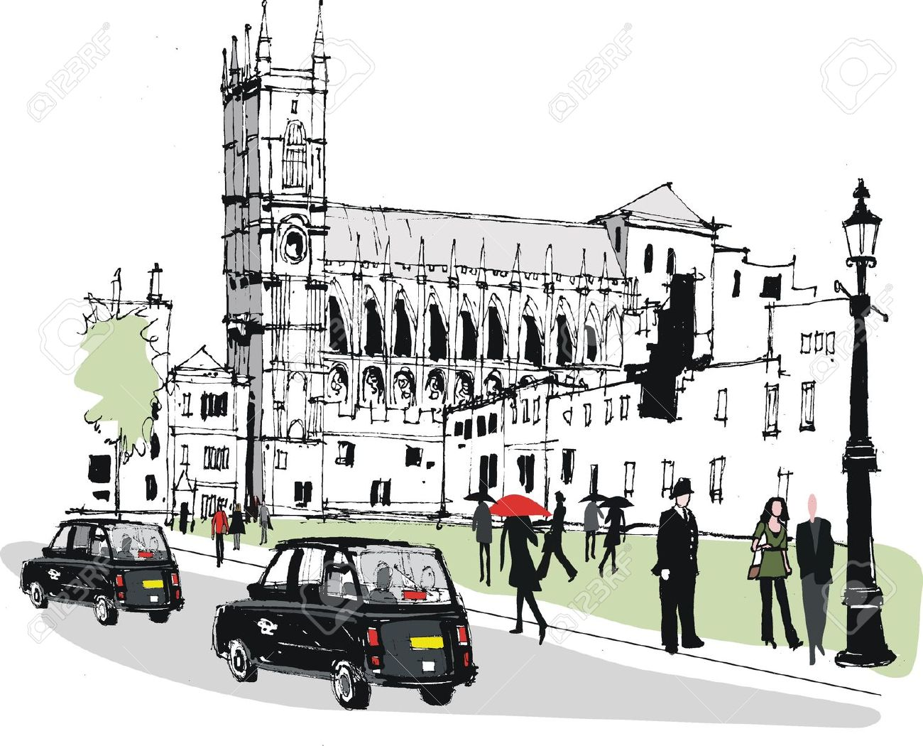 Westminster abbey clipart.