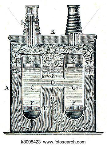 Drawing of Weston galvanic cell k8008423.