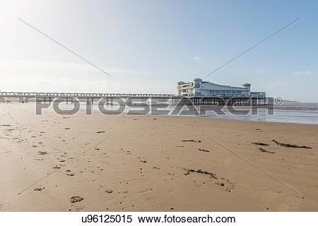 Stock Image of Weston Super Mare Pier, UK u96125015.