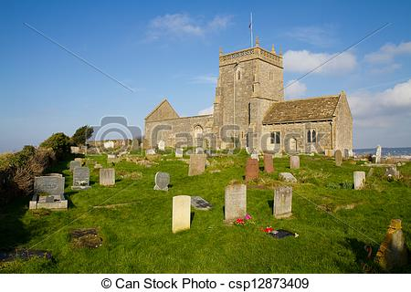 Stock Photography of Uphill Church Weston.