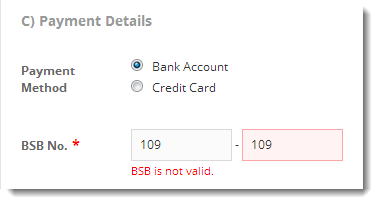 Invalid BSB No..