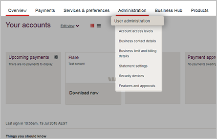 How to manage account access.